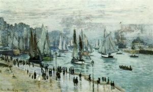 Bateaux-quittant-le-port-Le-Havre-Monet